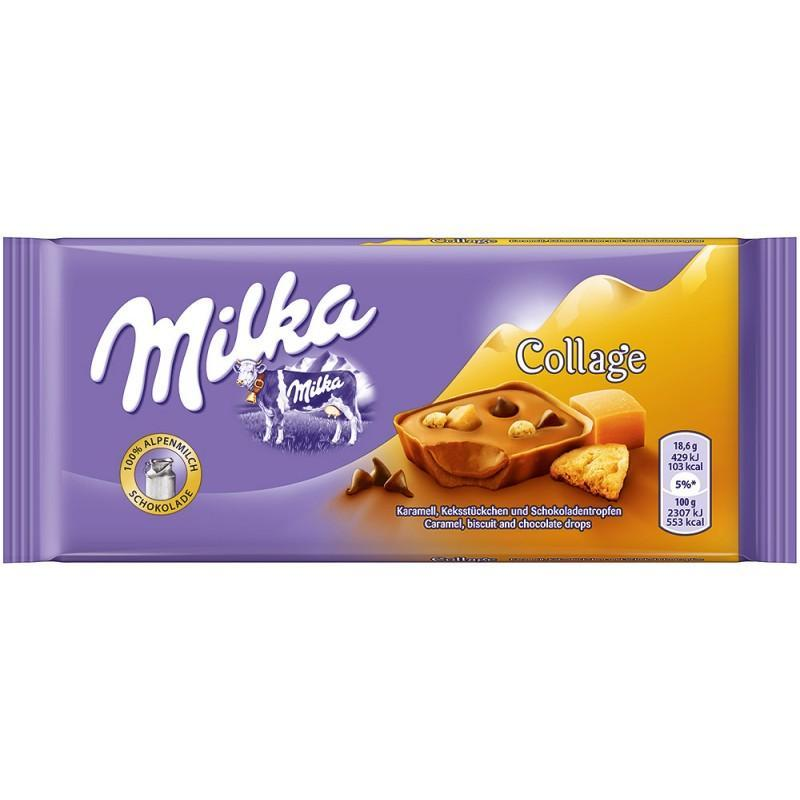 Шоколад Milka Collage Caramel biscuit and chocolate drops