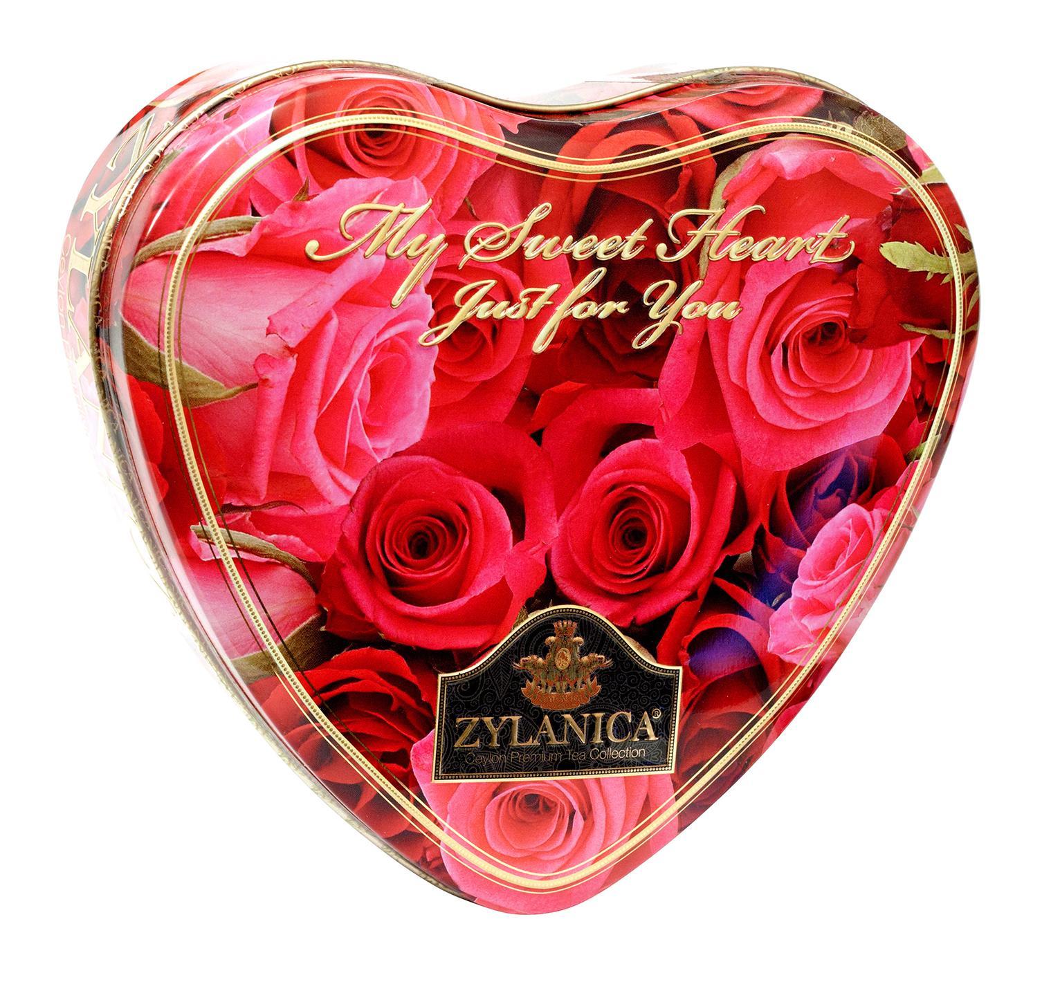 Чай черный Zylanica Сердце Red Roses Super Pekoe