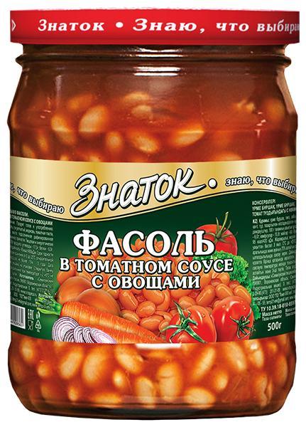 Фасоль Знаток В томатном соусе с овощами
