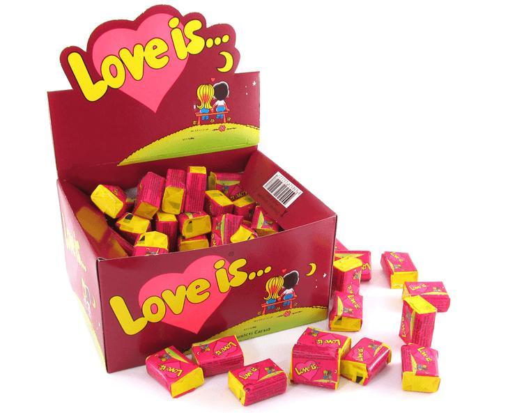 Жевательная резинка Love is Вишня лимон 100шт.