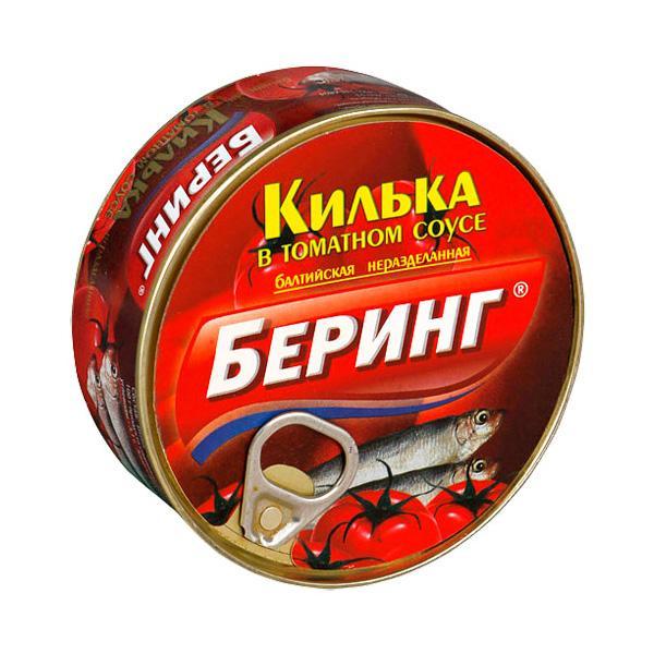 Килька Беринг в томатном соусе