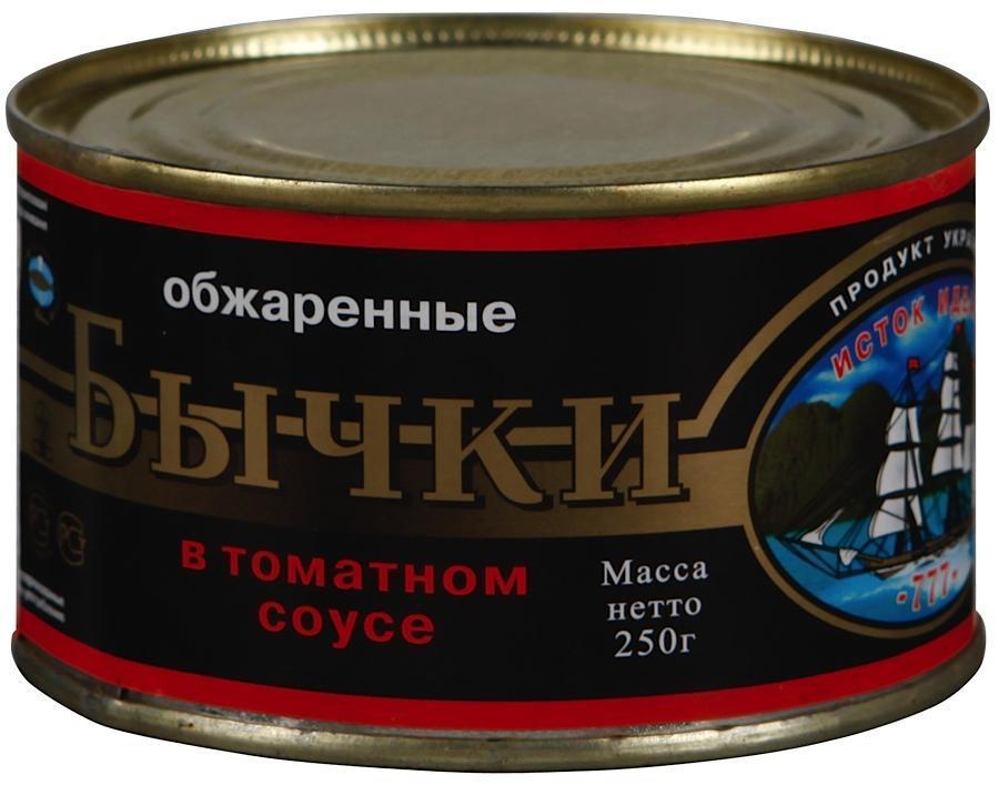 Бычки Исток обжаренные в томатном соусе