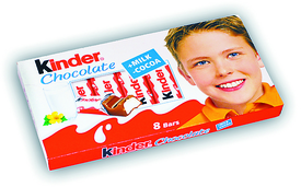 Шоколад Kinder Chocolate с молочной начинкой