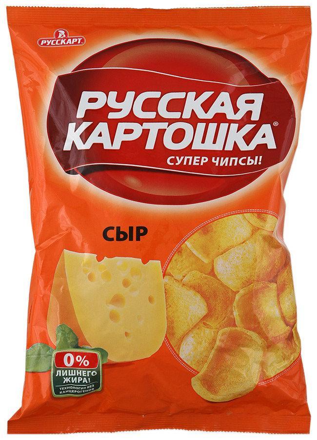 Чипсы картофельные Русская картошка со вкусом сыра