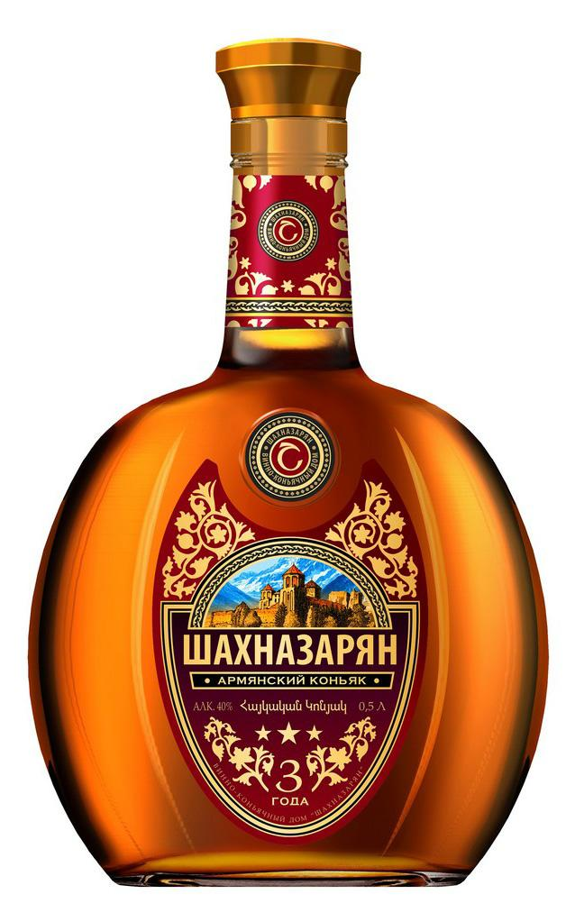 Коньяк Шахназарян ВКД Шахназарян Традиционный Армянский выдержка 3 года 40%