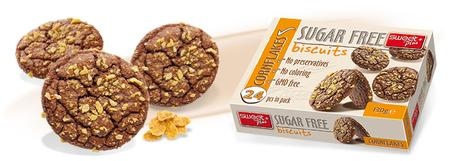 Печенье Sugar free шоколад и кукурузные хлопья без сахара