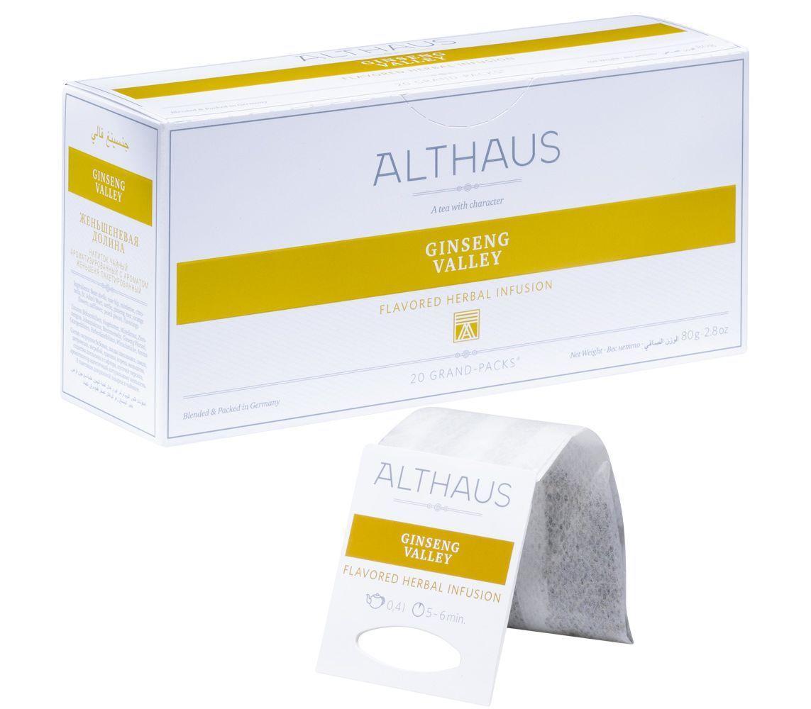 Чай травяной Althaus Ginseng Valley 20 пакетов для чайника