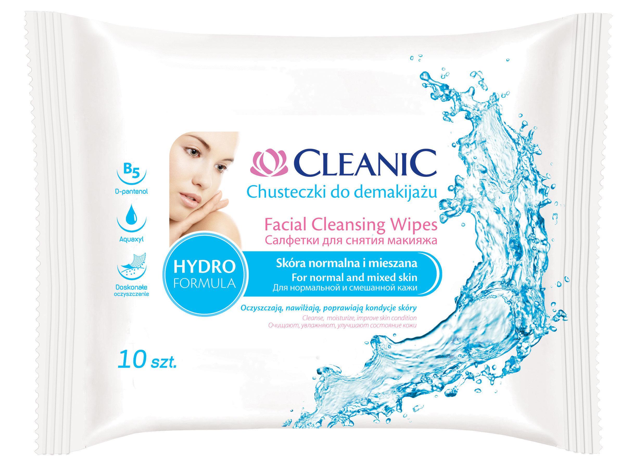 Влажные салфетки Cleanic Hydro Formula Для снятия макияжа 10 шт