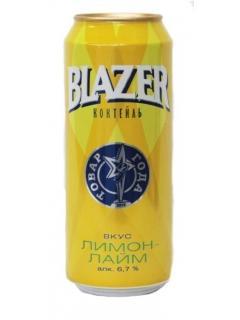Пивной напиток со вкусом лимон-лайма 6,7% Blazer 500 мл., Жестяная банка