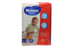 Подгузники Huggies Classic 4 7-18кг. 14шт.