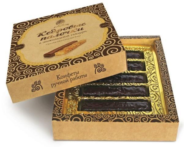 Кедровые палочки Сибирский Кедр в шоколадной глазури
