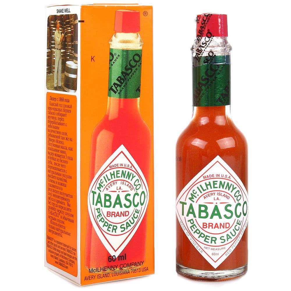 Соус Tabasco с красным перцем, Соединенные Штаты