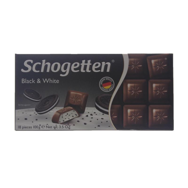 Шоколад Schogetten Black & White молочный 100 гр.