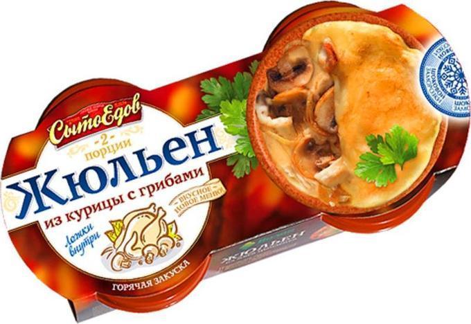 Жюльен Сытоедов из курицы с грибами