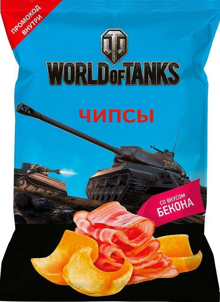 Чипсы картофельные World of Tanks со вкусом бекона