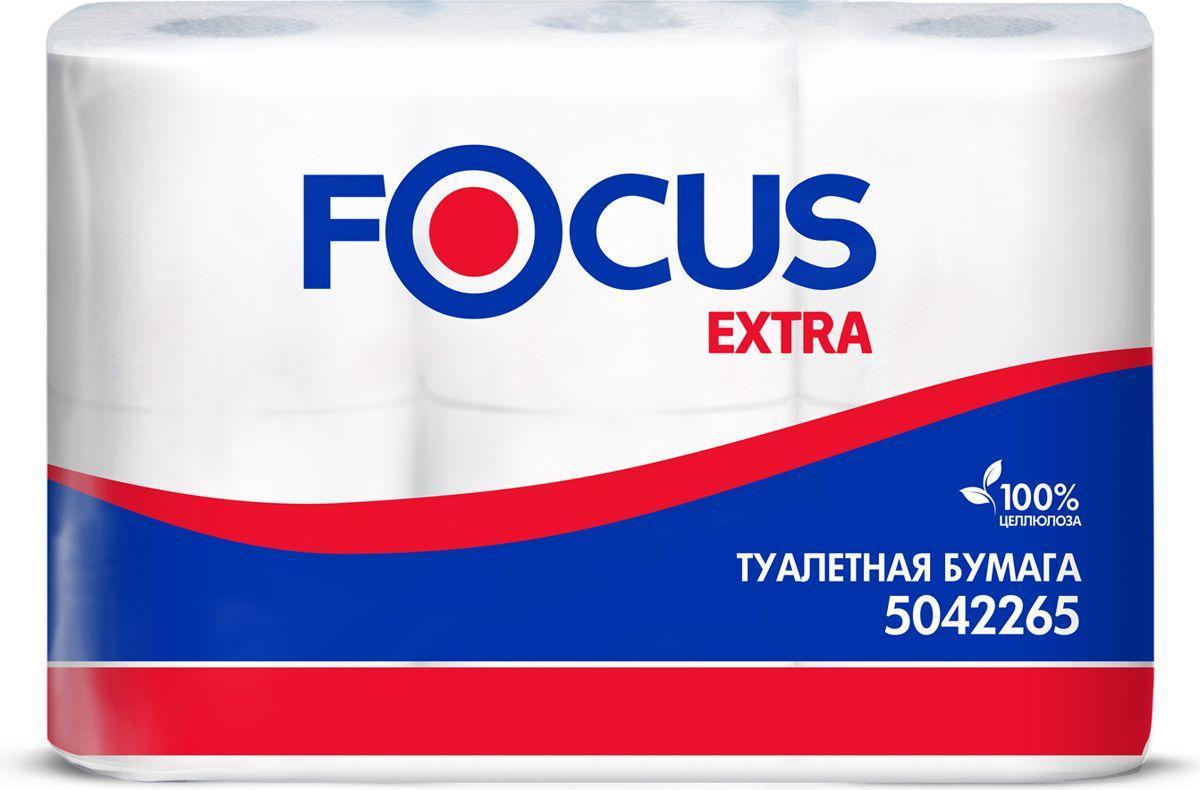 Туалетная бумага Focus Extra 2 слоя 6 рулонов