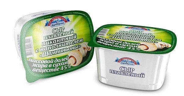 Сыр Здравушка Плавленный с шампиньонами 45%