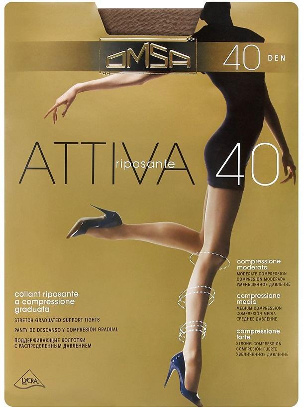 Колготки OMSA Attiva 40den natural 4L