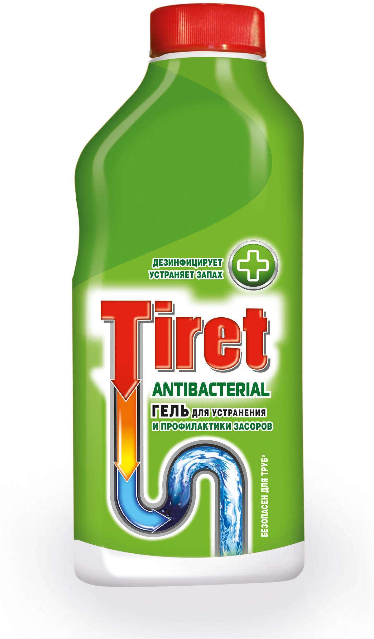 Гель для чистки труб Tiret Antibacterial