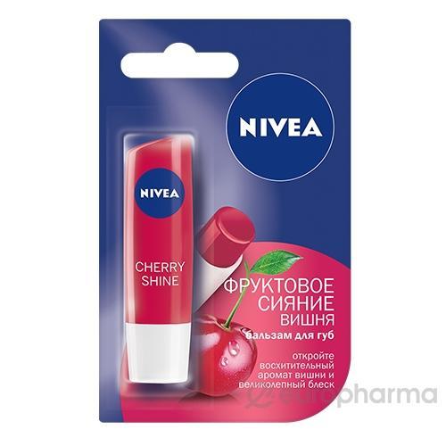 Бальзам для губ Nivea Фруктовое сияние с ароматом вишни