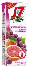 Нектар J7 ТОНУС Суперфрукты красный виноград и грейпфрут с экстрактом ягод годжи 1,4л
