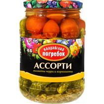 """Ассорти """"Валдайский погребок"""" (огурец+томат+перец), 1450гр"""