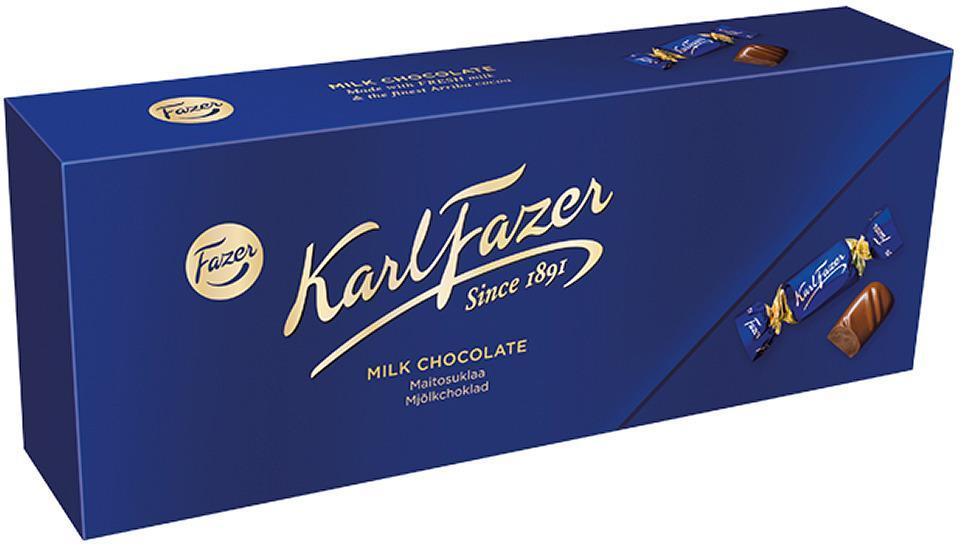 Шоколадные конфеты Fazer Karl трюфель с яблоком