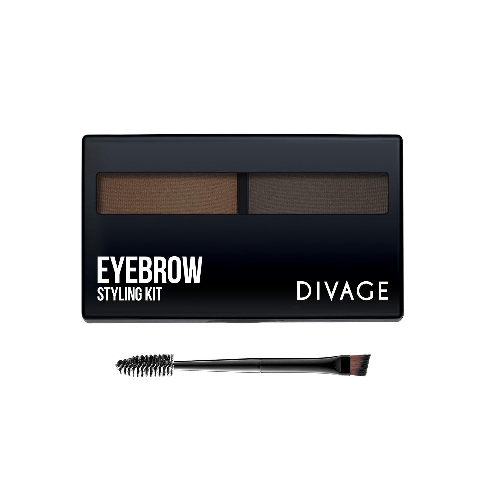 Набор для моделирования формы бровей Divage Eyebrow Styling Kit тон 02