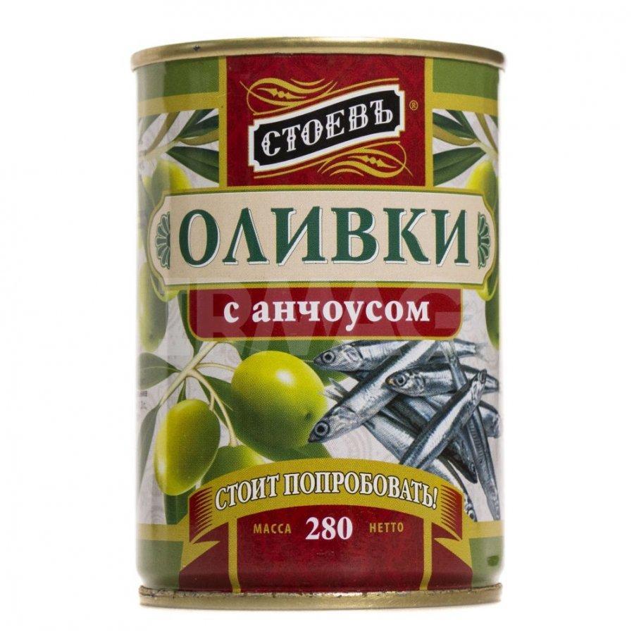 Оливки Стоевъ с анчоусом