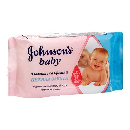 Влажные салфетки Johnson's Нежная забота Детские 64шт.