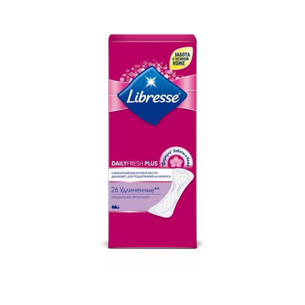 Прокладки Libresse DailyFresh Plus, 26шт