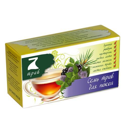 Чайный напиток Конфуций 7 трав для покоя 20 пак.
