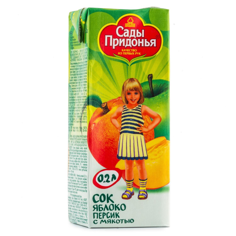 Сок Сады Придонья персиковый детский