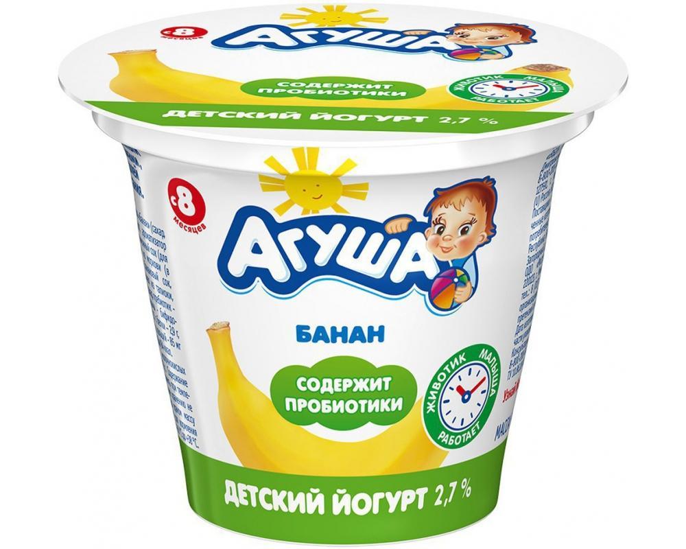 Йогурт АГУША Банан 2,6% 90г