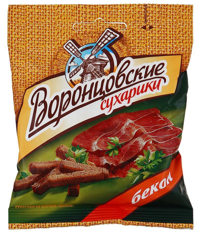 Сухарики Воронцовские Бекон