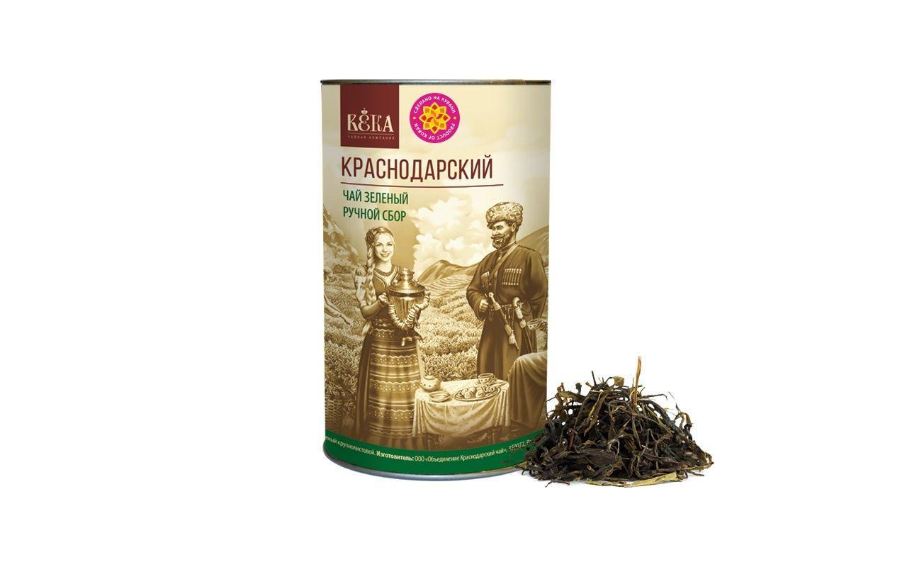 Чай зеленый Краснодарскiй чай ВЕКА Краснодарский ручной сбор крупнолистновой тубус