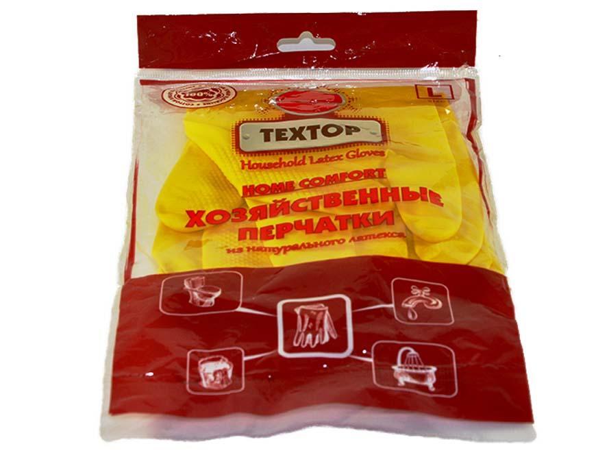 Перчатки Textop хозяйственные резиновые Home Comfort размер L