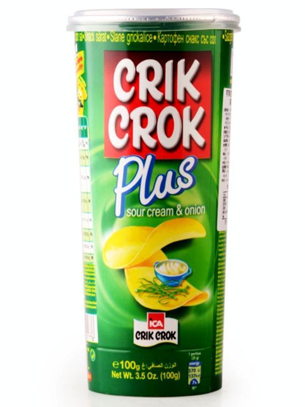 Чипсы Crik Crok сметана и лук