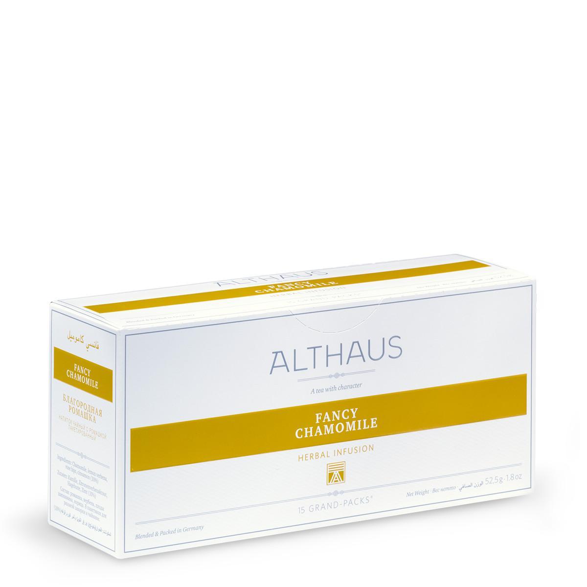 Чай травяной пакетированный Althaus Fancy Camomile Благородная ромашка 15 пак.