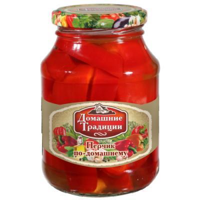 Перец Домашние традиции сладкий маринованный