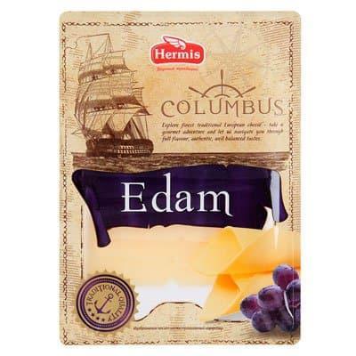 Сыр Columbus Эдам нарезка 45%