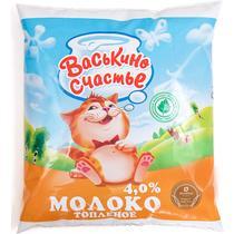 Молоко Васькино счастье топленое 4% 500 г