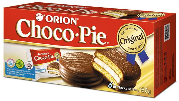 Пирожное Orion Choco Pie бисквитное  180 гр.