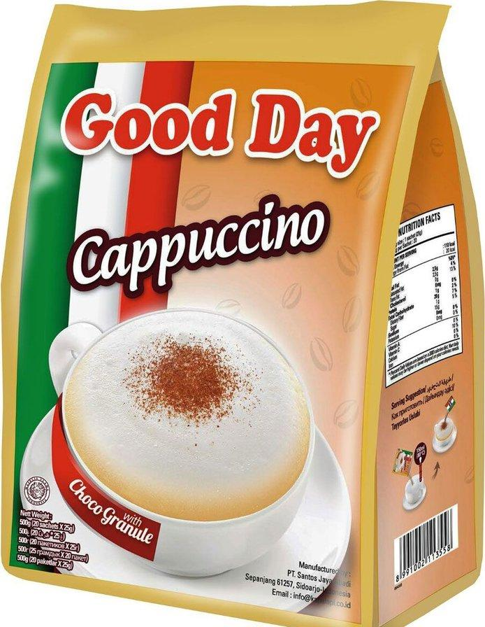 Кофе Good Day Cappuccino 3в1 20 пакетов