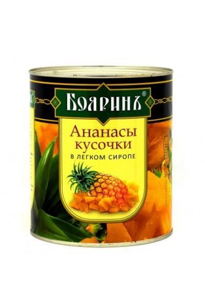 "Ананасы кусочки ""Бояринъ"" 580мл/б"