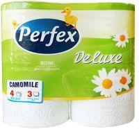 Туалетная бумага Perfex de luxe ромашка