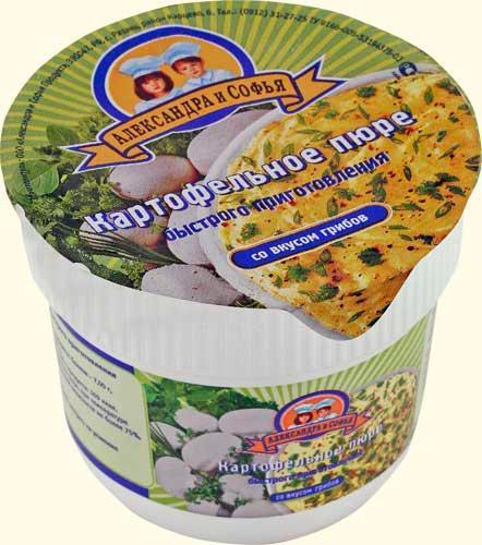 Пюре картофельное Александра и Софья Со вкусом грибов Быстрого приготовления