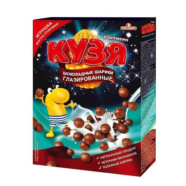 Шарики мультизерновые Кузя Лакомкин Глазированные шоколадные