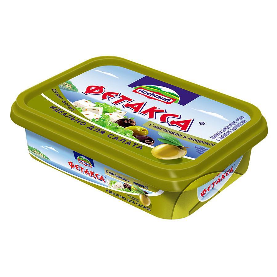 Сыр Hochland Фетакса с маслинами и паприкой