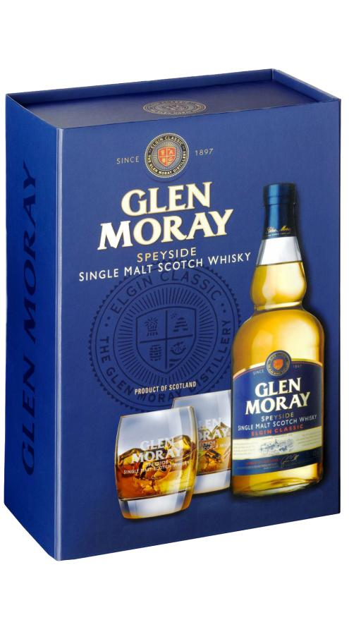 Виски Глен Морей Элджин Классик с 2-мя бокалами / Gift Set Glen Moray Elgin Classic, Шотландия